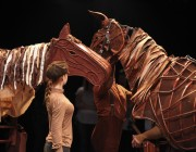 War Horse meets a life-sized Joey created by students and staff from Oak Lodge Special school , New Forest. June 2014 (Photographer Ellie Kurttz)