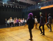 Project participants in Bradford preparing for their showcase. May 2014